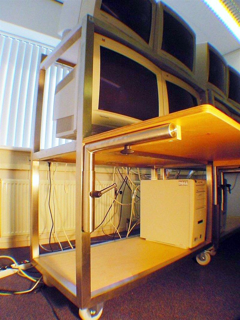 Verrijdbare trolleys voor Bio Imaging