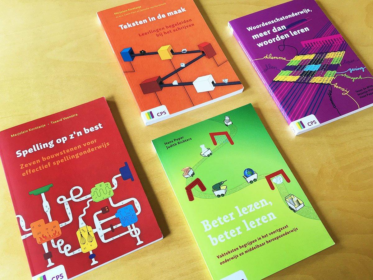 covers van een serie van 4 boeken voor CPS over effectief taalonderwijs