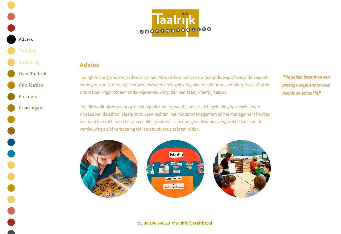 Pagina Advies van de website van Taalrijk Onderwijsadvies