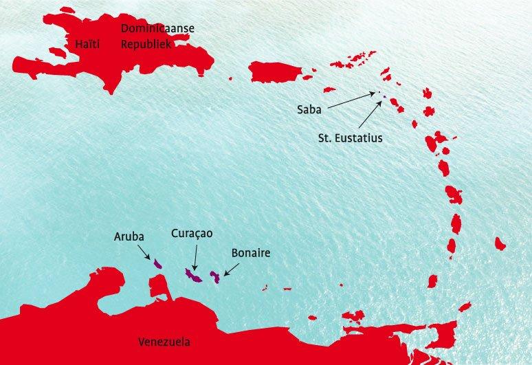 cartografie: kaart van de bes-eilanden