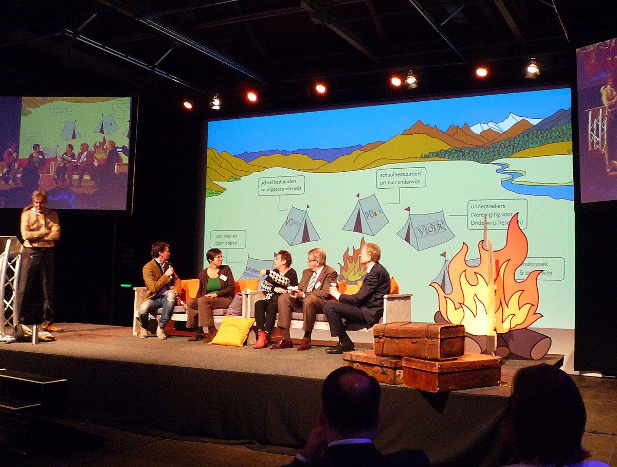 openingsgesprek van het nro congres samen op expeditie 2015