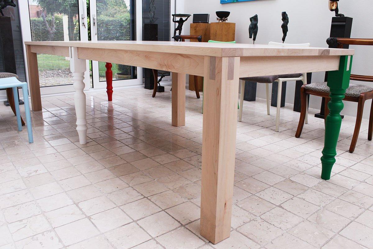 Vergadertafel massief esdoorn, 300 x 100 cm