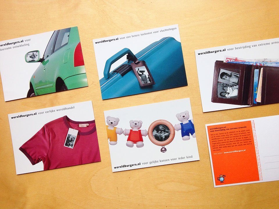 logo, huisstijl en set kaarten voor wereldburgers.nl