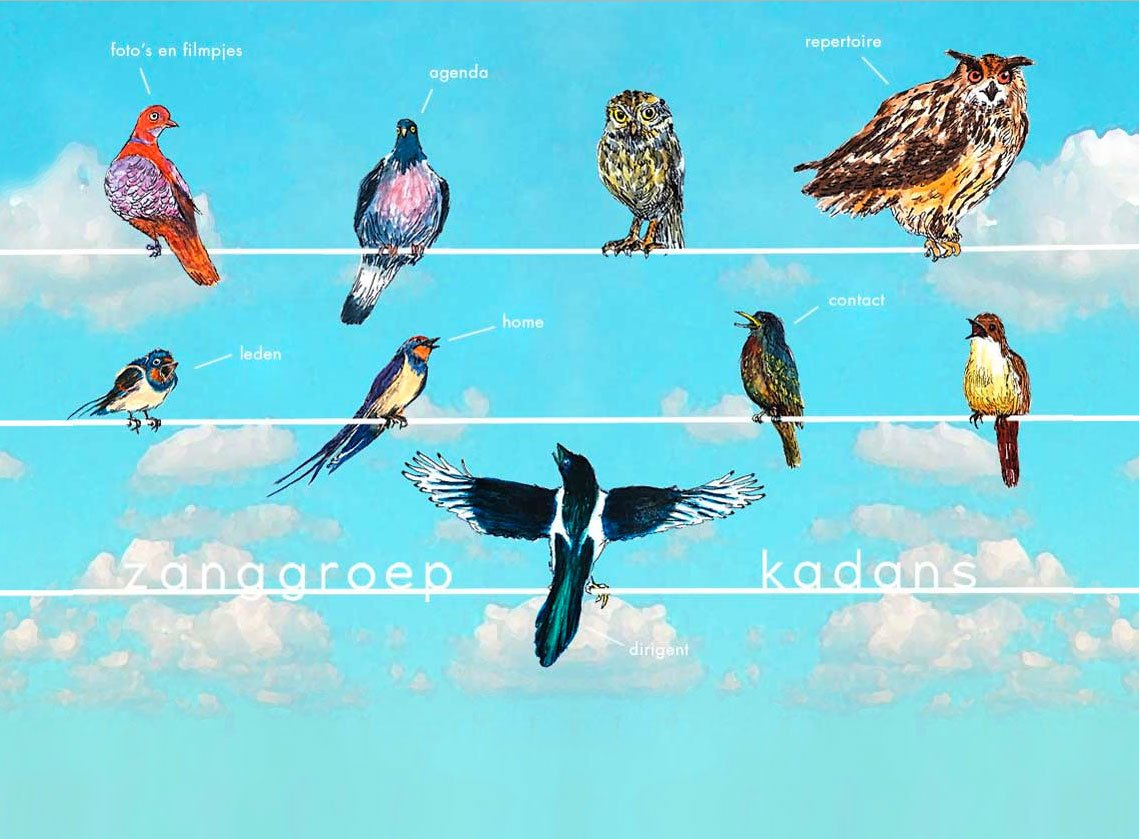 Website-grafisch-ontwerp design zangkoor kadans Heerlen