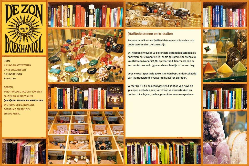Website-ontwerp webdesign boekhandel de zon