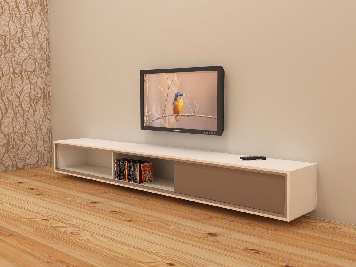 Render illustratie van zelf getekend TV meubel