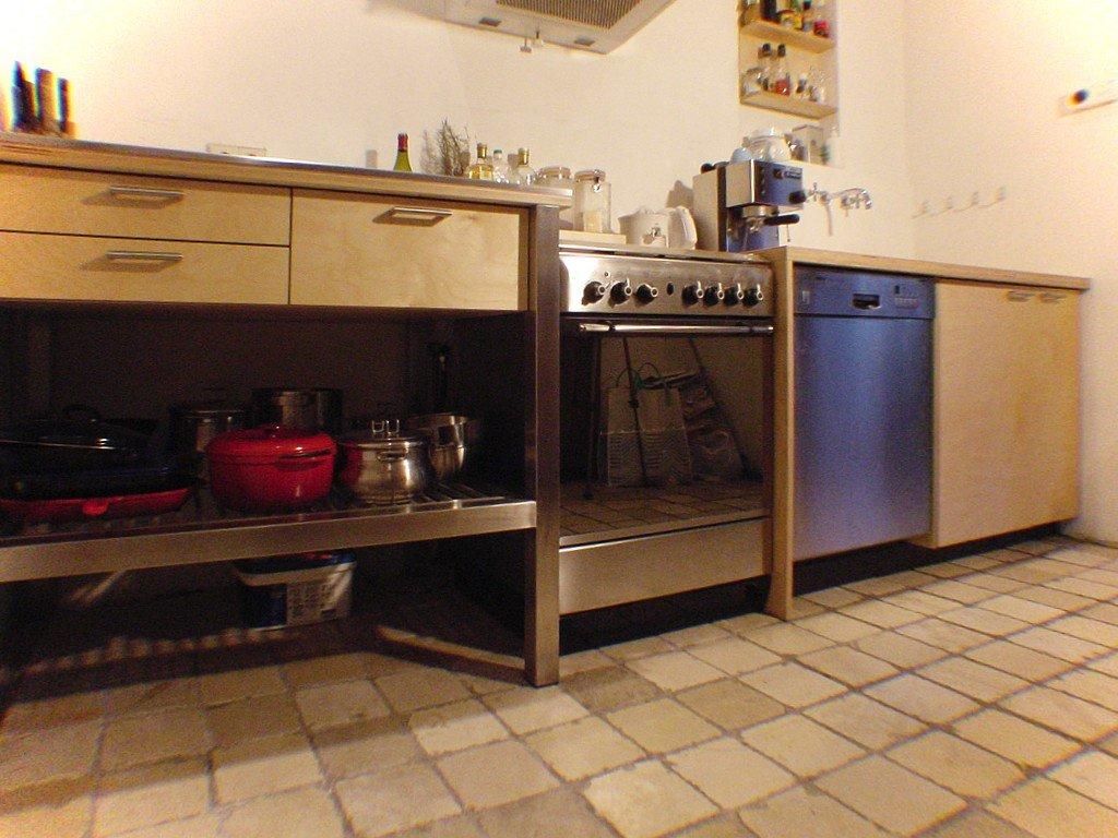 Keuken op maat in Leiden, berken en RVS