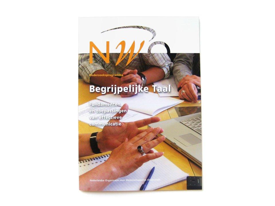 Cover van de NWO-Brochure 'Begrijpelijke Taal'