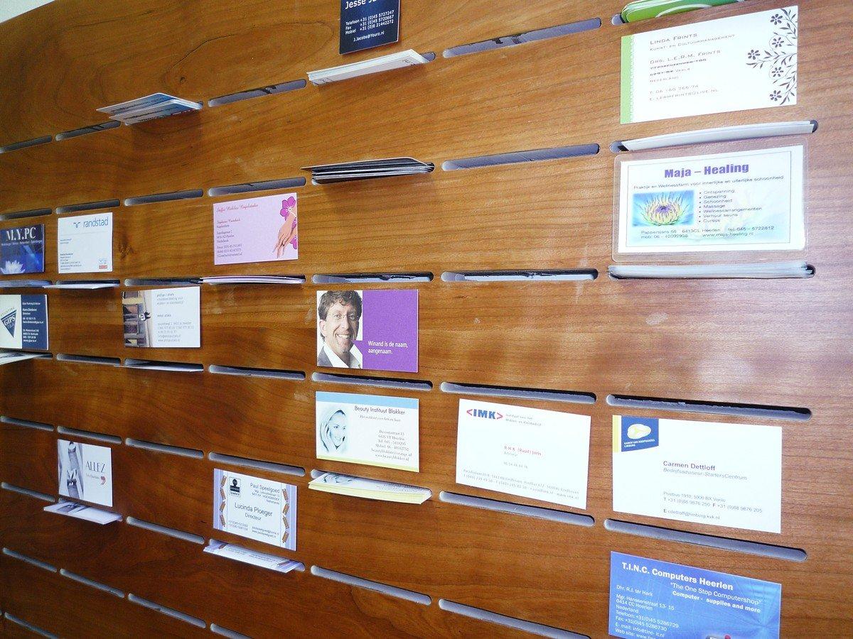 Display voor visitekaartjes | Business card display