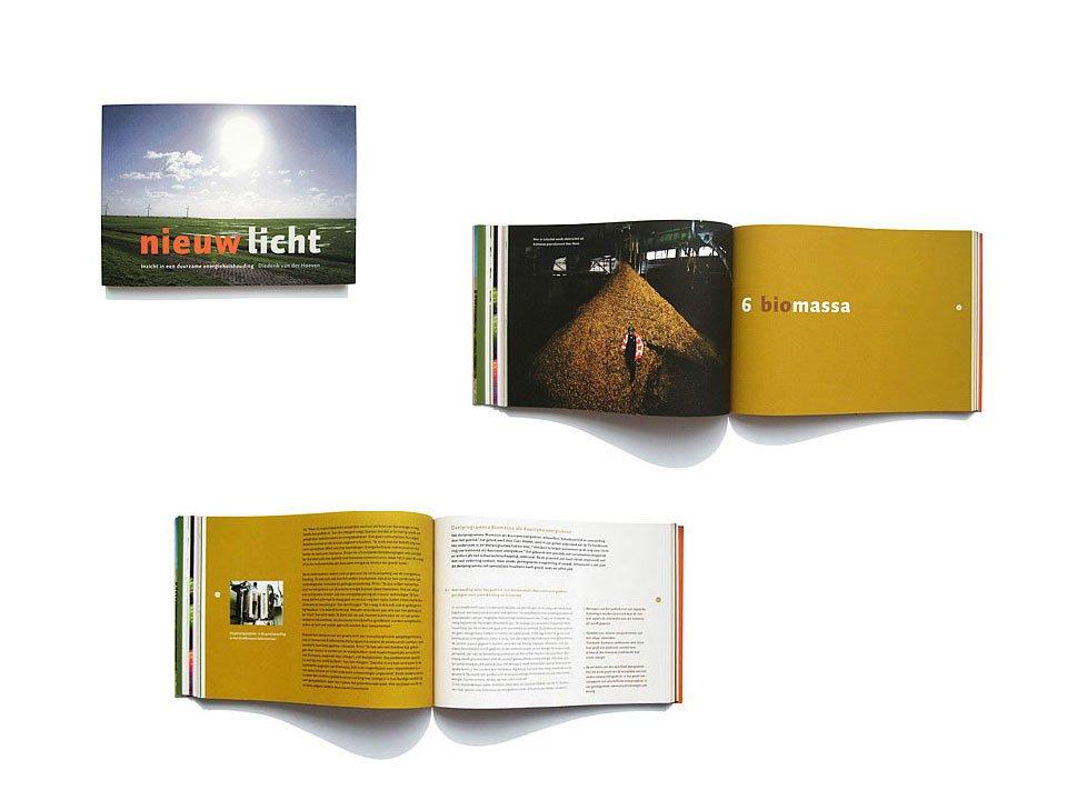 Vormgeving van het boek Nieuwe Energie door Diederik Verhoeven