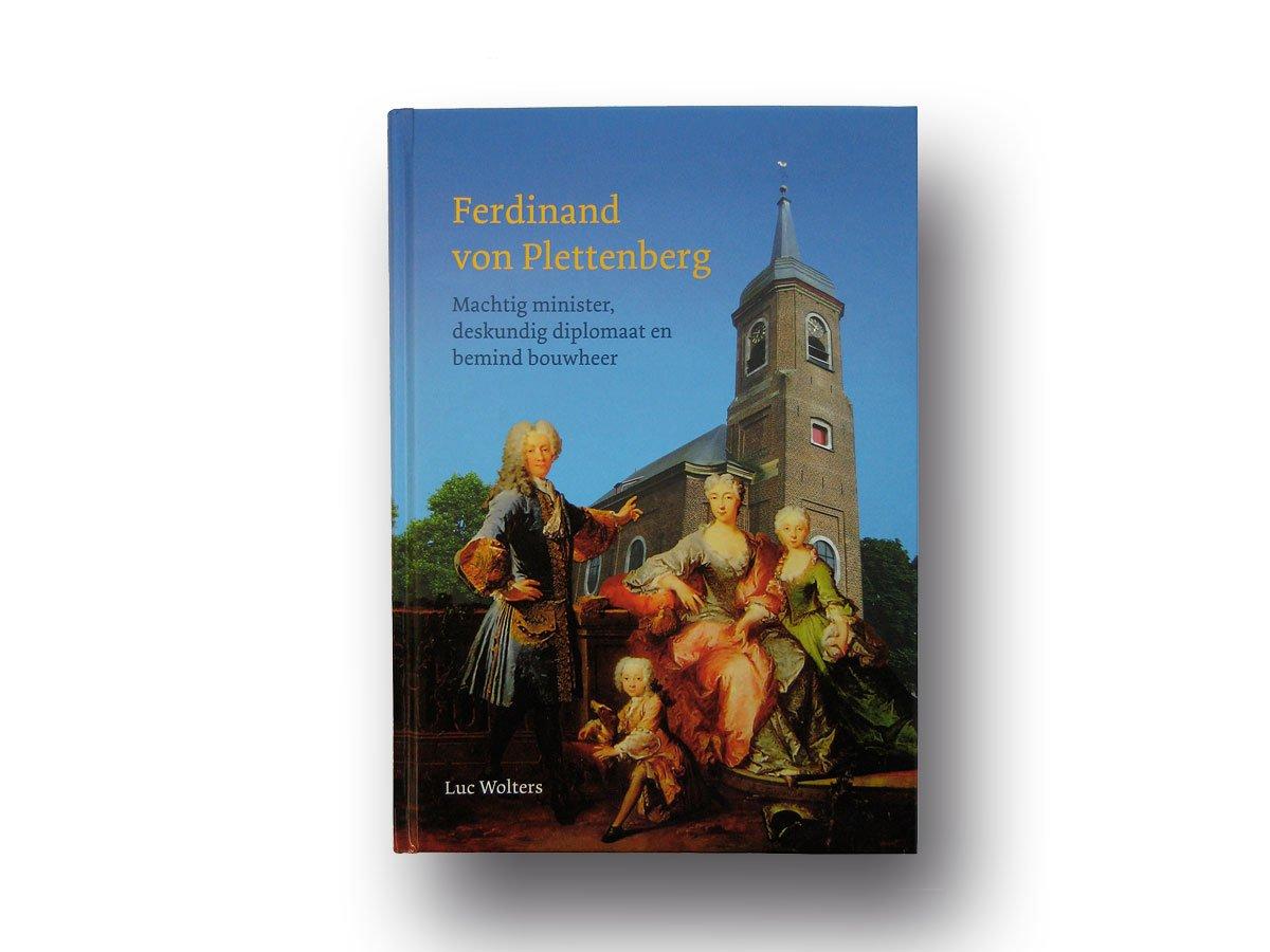 Ontwerp van een boek over Ferdinand van Plettenberg, geschreven door Luc Wolters