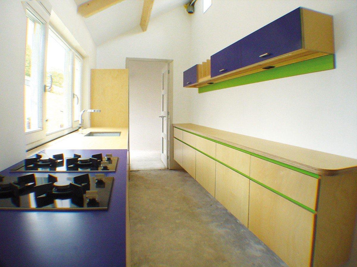 Keuken in berken en laminaat nieuw eken ontwerp