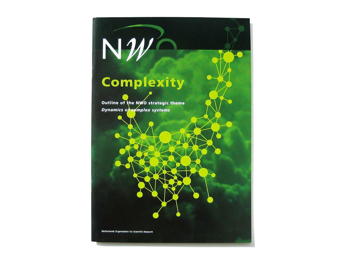 Cover van de NWO-brochure Complexity van het gebied Exacte Wetenschappen