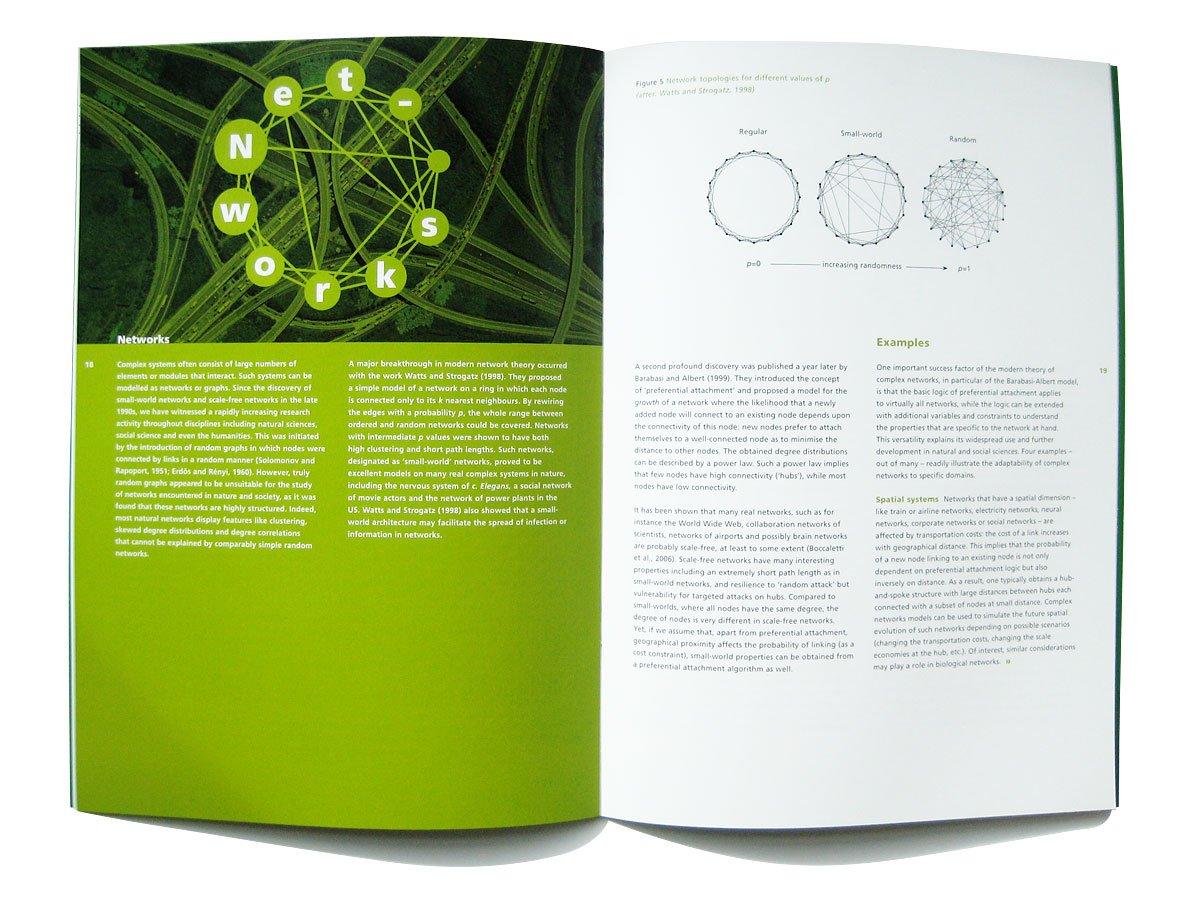 Pagina uit het binnenwerk van de NWO-brochure Complexity van het gebied Exacte Wetenschappen