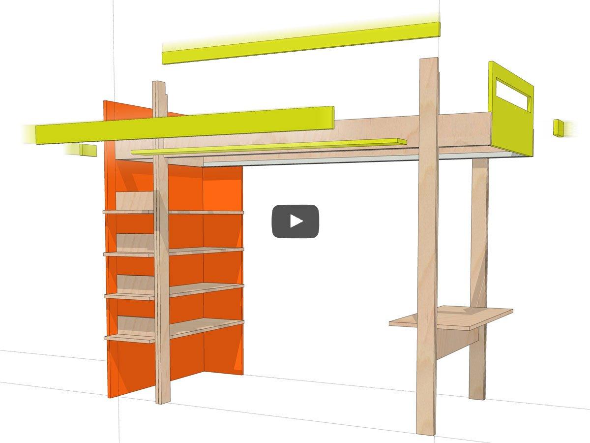 3d animatie bouw je eigen hoogslaper nieuw eken ontwerp for Ontwerp je eigen kamer in 3d