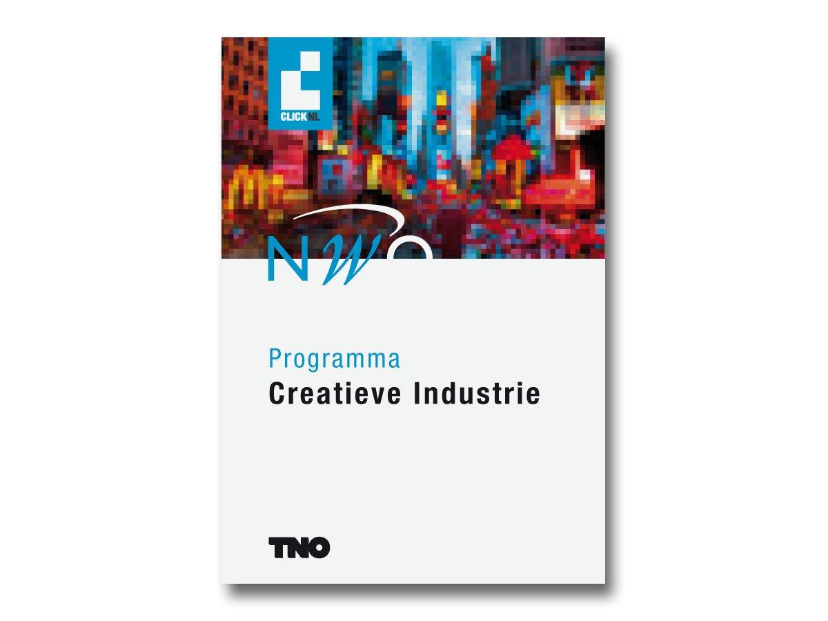 cover van het boekje Creatieve Industrie van Clicknl NWO TNO
