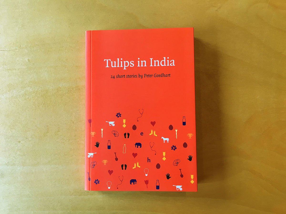 boek Tulips in India, engelstalig relatiegeschenk van ontwikkelingsorganisatie ICCO