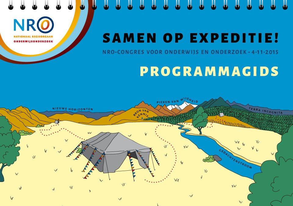 """illustratie voor het NRO-congres """"Samen op expeditie"""""""