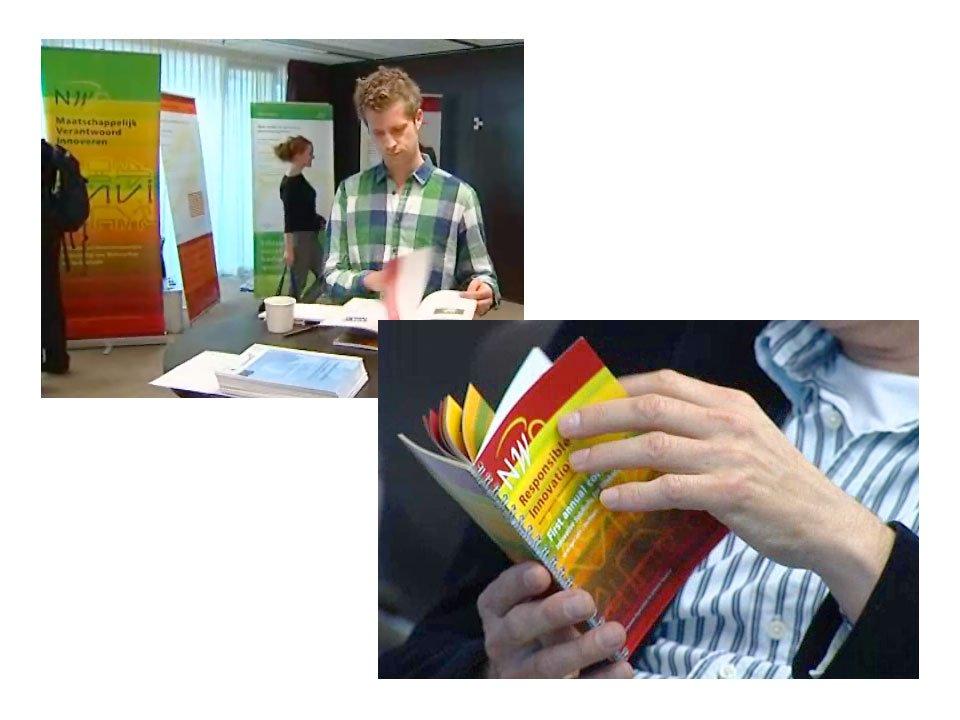 programmaboekje, brochure en banieren (roll-up banners) voor het nwo-onderzoeksprogramma mvi maatschappelijk verantwoord innoveren