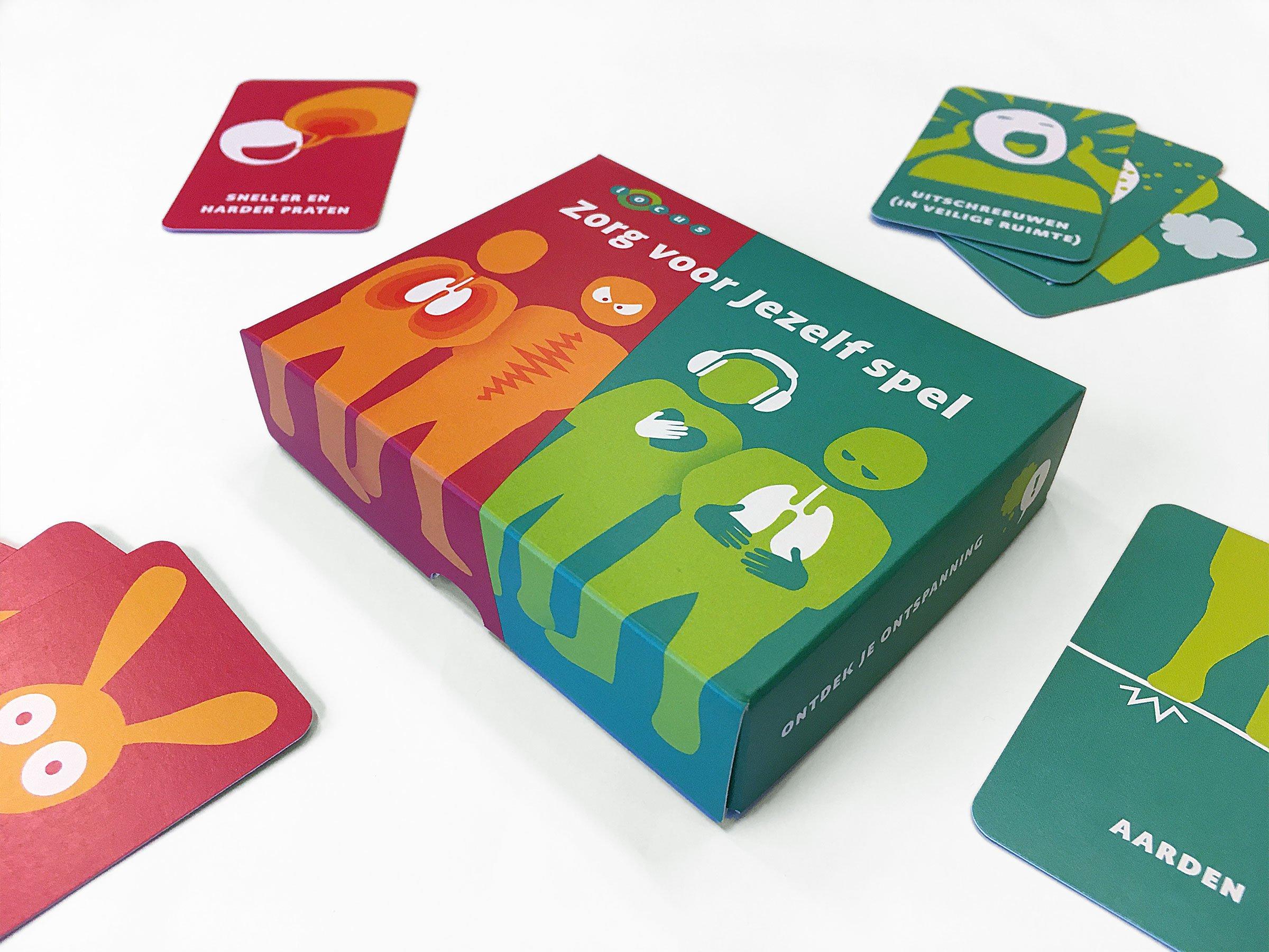 Locus Zorg voor Jezelf spel spellendoos ontwerp